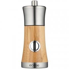 Ecooe Bambus und Edelstahl Pfeffer-oder Salz-Mühle