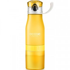 Ecooe 600ml / 20oz Lemon Squeezer Water Bottle - Yellow