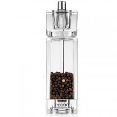 Ecooe Crystal Clear Acrylic Salt and Pepper Mill