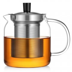 Ecooe 700ml/24 oz Stovetop Glass Teapot with Filters