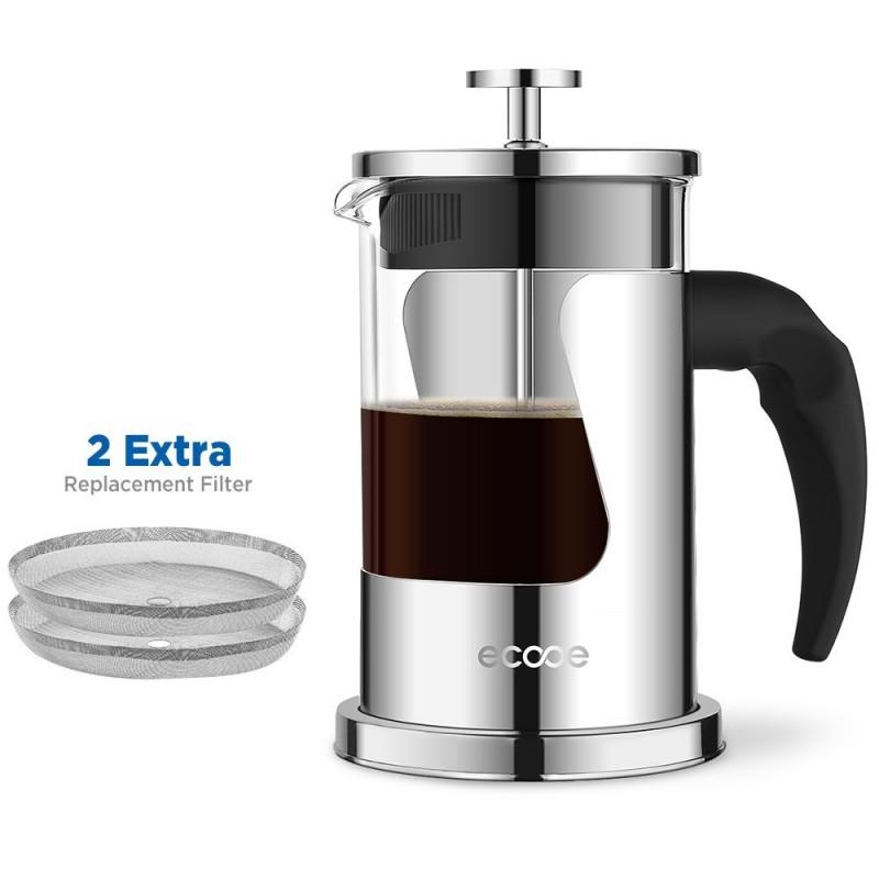 Ecooe 600ml Glas-und Edelstahl-Kaffeebereiter | {Kaffeebereiter 26}