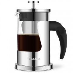 Ecooe 20 oz Glass & Stainless Steel French Press Coffee Maker