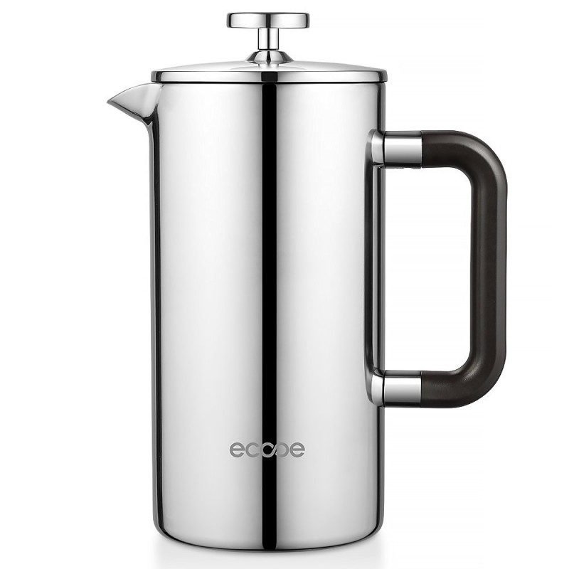 ecooe 34 oz 8 cup double wall stainless steel french press. Black Bedroom Furniture Sets. Home Design Ideas