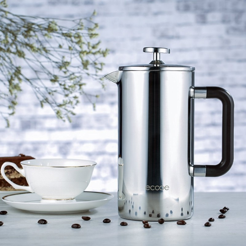 French Press Coffee Maker Cleaning : Ecooe 34 oz 8 Cup Double Wall Stainless Steel French Press Coffee Maker