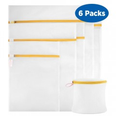 Ecooe Polyester 6-Pack Set Mesh Laundry Bag
