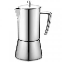Ecooe Edelstahl Espressomaschine für den Herd 6 Tassen