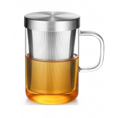 Ecooe 500 ml  Borosilicate Glass Tea Infuser Cup