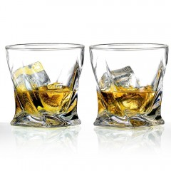 Ecooe 300ml  2-Pack Twisting Whisky Tumblers