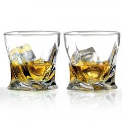 Ecooe 300ml 2er Pack Whiskey Gläser im gedrehten Design