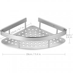 Ecooe Aluminiumlegierung Badezimmer Eckregal Lagerregal