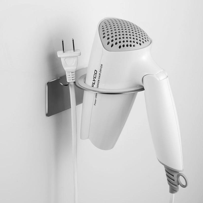 ecooe haartrockner halter aus edelstahl ohne bohren ecooe. Black Bedroom Furniture Sets. Home Design Ideas