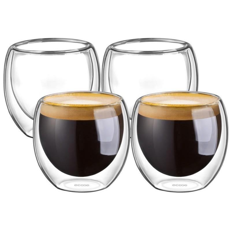 100ml Wall Cups 4set Espresso Double Ecooe TFJ13lKc