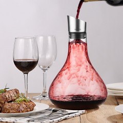 Ecooe Glass Wine Decanter with Built-in Aerator, Drip-free Pouring Wine Carafe 2L / 68.3 oz