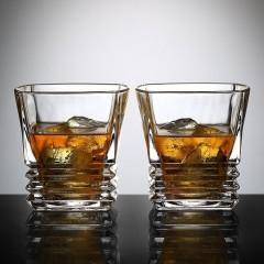 Ecooe Whiskey Glass, set of 2, 260 ml, Ashtray.