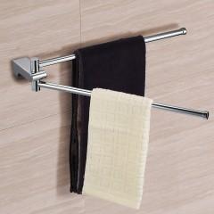 Ecooe Handtuchhalter 2-armige Handtuchaufbewahrung zur Wandmontage Platzsparend Badezimmer Handtuchhalter Rostfrei Handtuchaufhänger