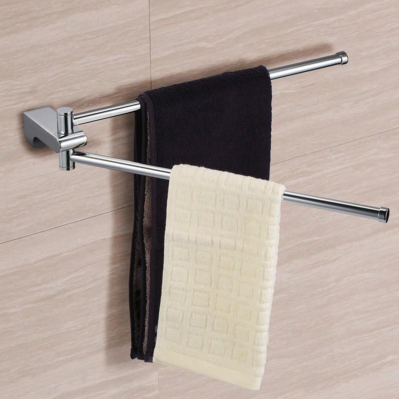 Ecooe Handtuchhalter 2-armige Handtuchaufbewahrung zur Wandmontage ...