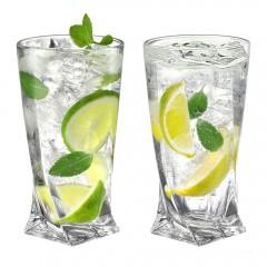 Ecooe 330ml (Volle Kapazität) Longdrinkgläser kristallgläser für Gin Tonic, Saft, Bier und Mehr, Wassergläser 2er Set
