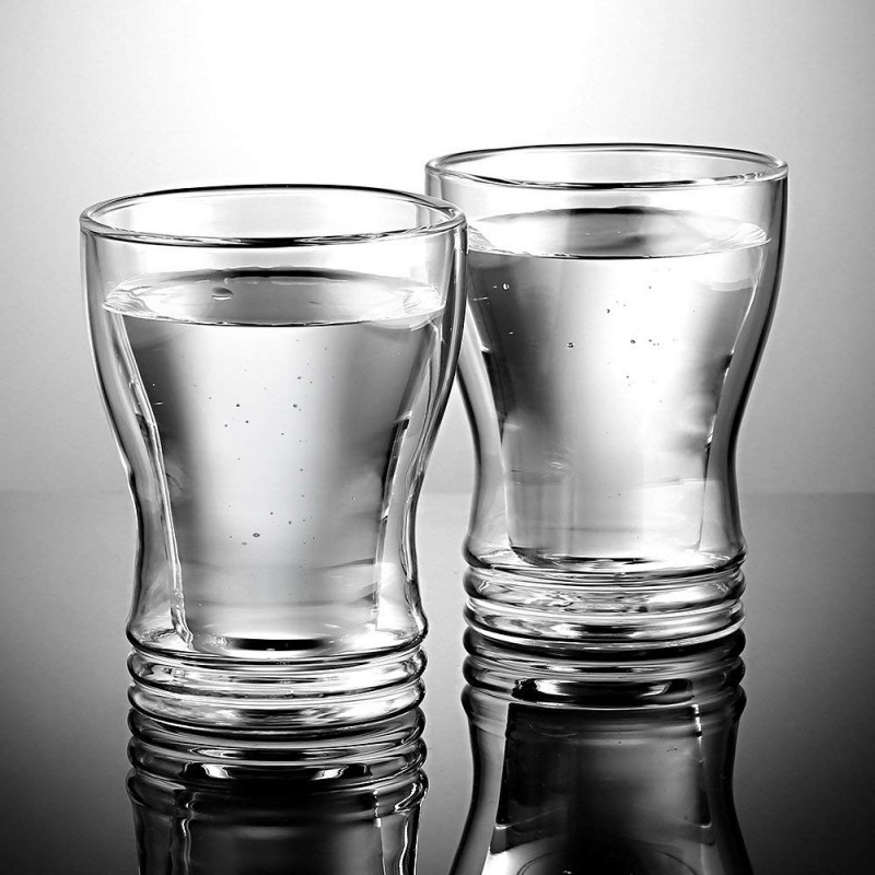 Ecooe Doppelwandige Latte Macchiato Glaser Set Thermoglas Trinkgläser Kaffeeglas