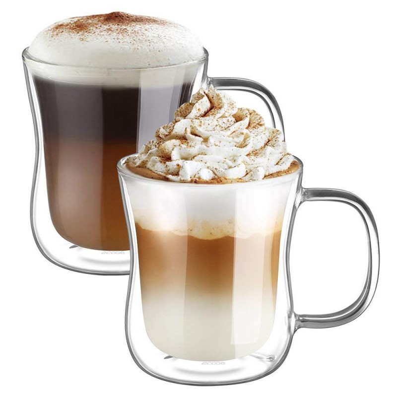 ecooe doppelwandige latte macchiato glaser set thermoglas trinkgl ser kaffeeglas 2 teiliges. Black Bedroom Furniture Sets. Home Design Ideas