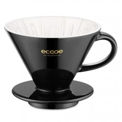 ecooe Ceramic Coffee Filter Ceramic Filter V60 Large 02 Porcelain Black Hand Filter 1 to 4 cups porcelain filter