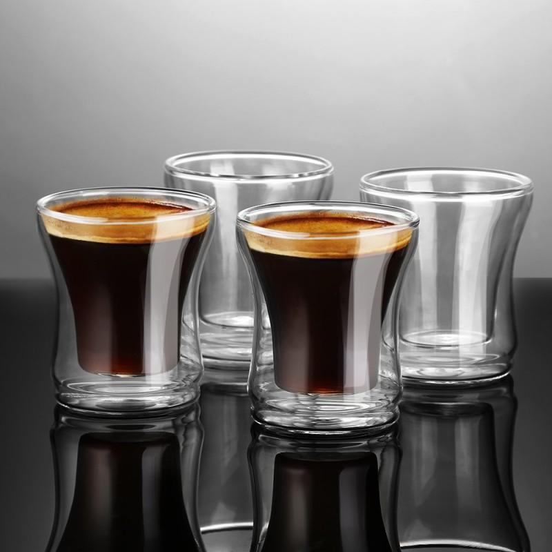 Ecooe Double Wall Espresso Cups Espresso cup Set 4 Pieces ...