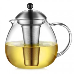 Glastal 1500ml Glass Teapot with Removable 18/10 Stainless Steel Infuser