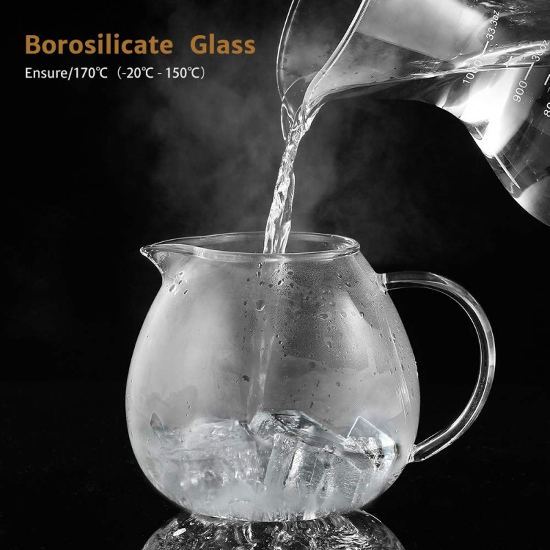 Glastal 1500ml Glass Teapot With Removable 18 10 Stainless