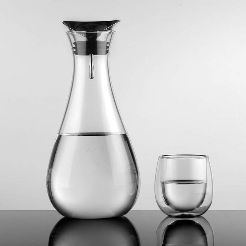 Glastal Glass Water Carafe 1 8 Litre Water Pitcher With Stainless Steel Lid Borosilicate Glass Iced Tea Pitcher Ecooe