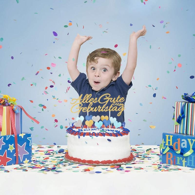 Awesome Ecooe Happy Birthday Cake Decoration Happy Birthday Cake Topper Personalised Birthday Cards Xaembasilily Jamesorg
