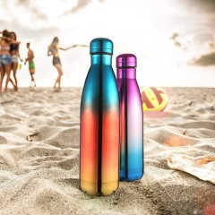 ecooe Insulated Double Walled Stainless Steel Flask 500ml Reusable Thermos Vaccum Water Bottle for Hot and Cold Drinks BPA Free Leak Proof