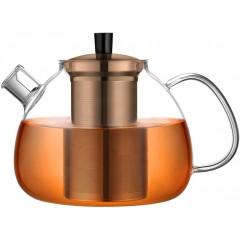 ecooe Original 1500ml glass teapot borosilicate glass tea maker with removable 18/8 stainless steel strainer rust-free heat-resistant for black tea green tea fruit tea scented tea and tea bags