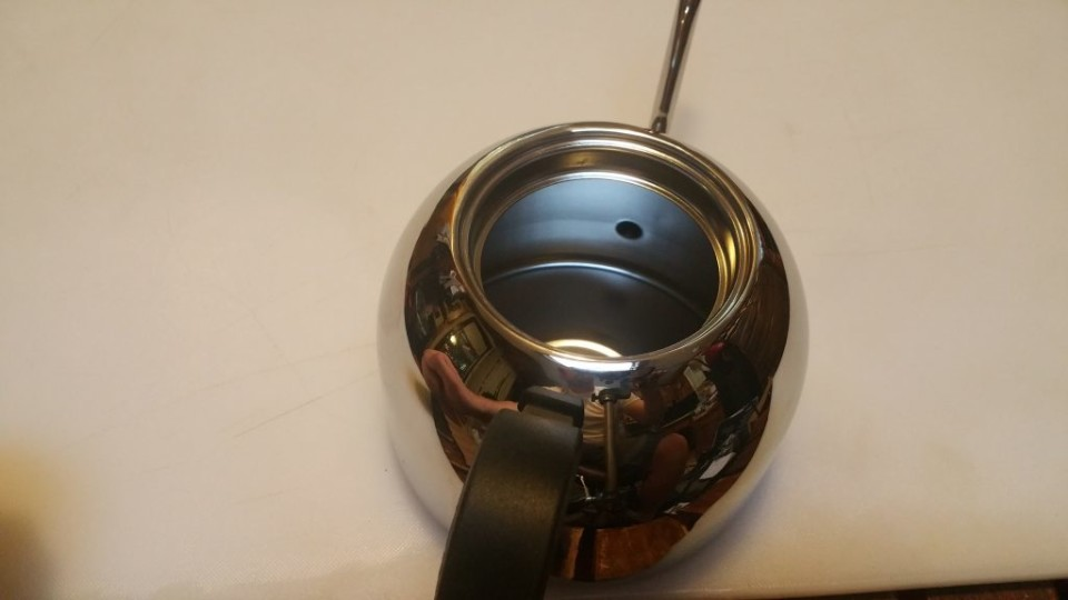 how to clean inside of a stove top kettle