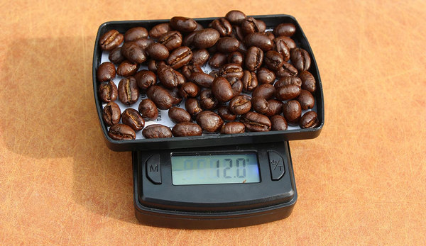 weigh coffee
