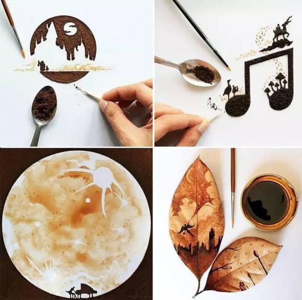 coffee grounds as dye