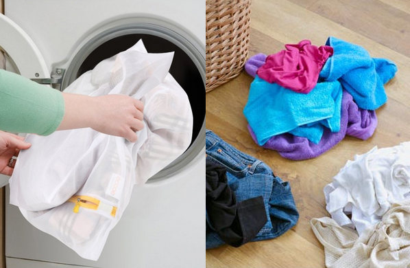 separate the clothes while washing