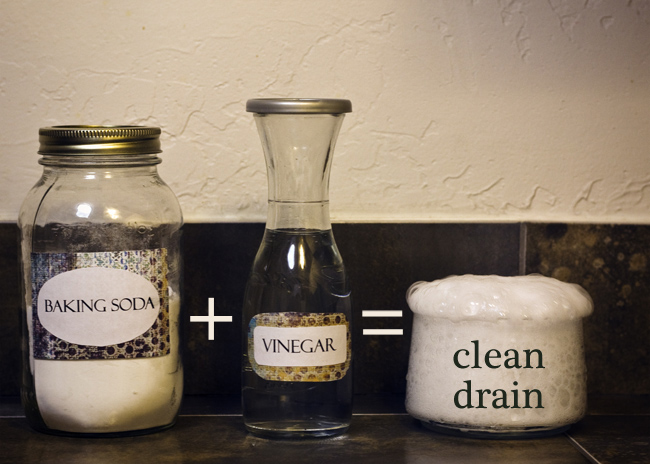 Baking Soda with Vinegar to Clean Sink Drain