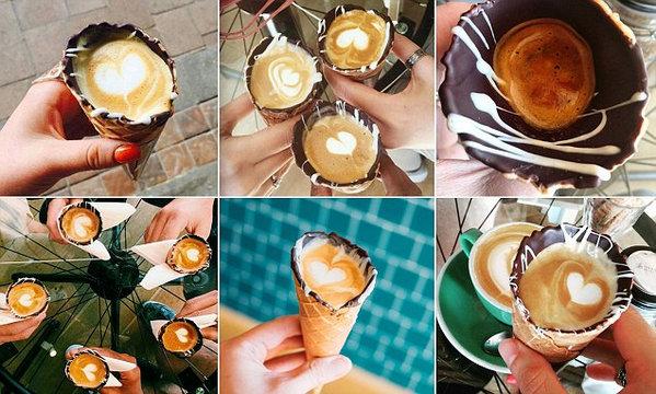 coffee in a cone