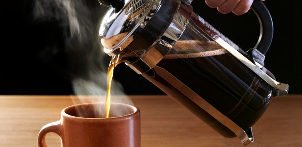 hot brewing coffee