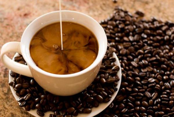 ad coconut milk to coffee