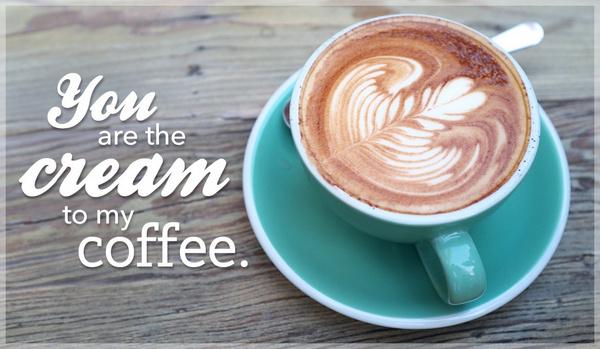 add cream to coffee