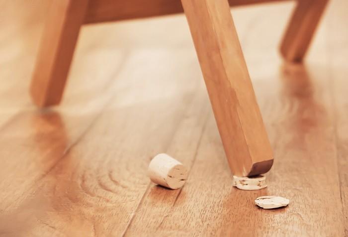 Wine Cork Uneven Chair Fix