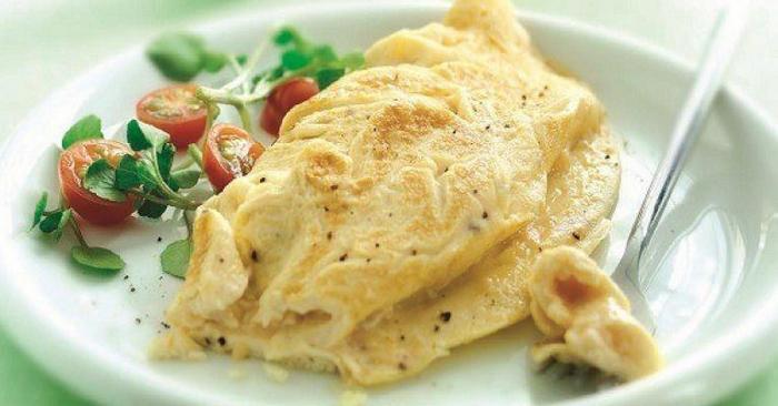 microwaved omelette