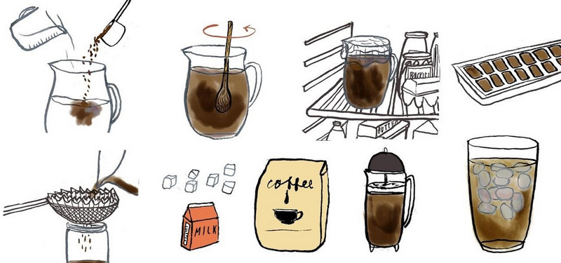 how to make cold coffee without ice just cold water