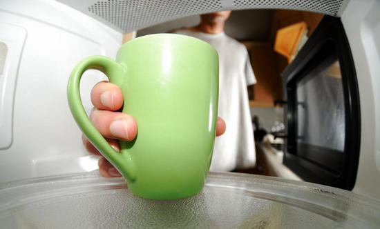reheat coffee in Microwave