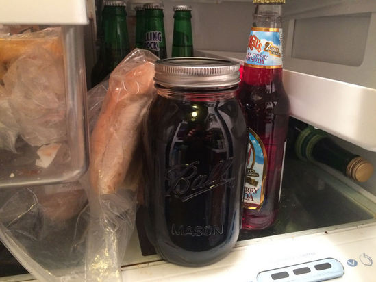 put coffee in refrigerator