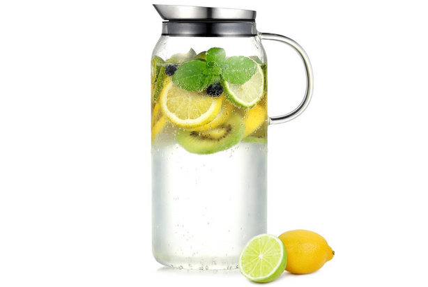 ecooe glass water pitcher