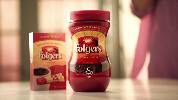 Folgers-tasting-Instant-Coffee