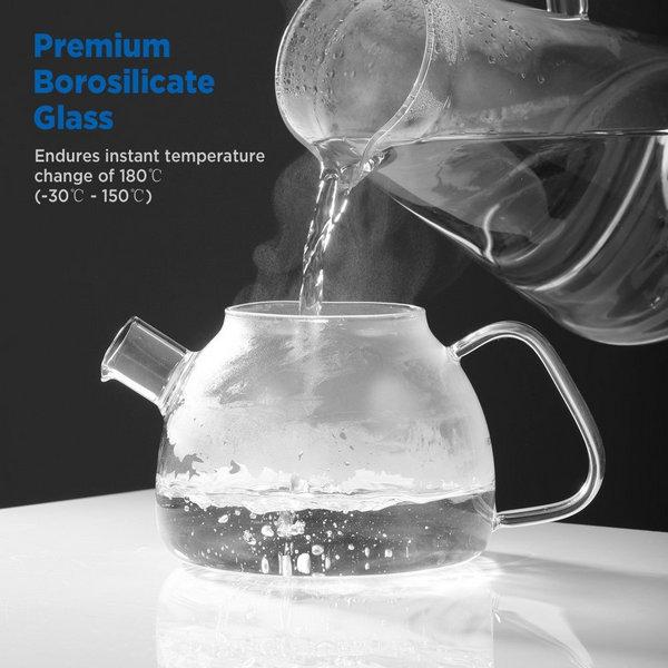 Borosilikat-Glas-Teekanne