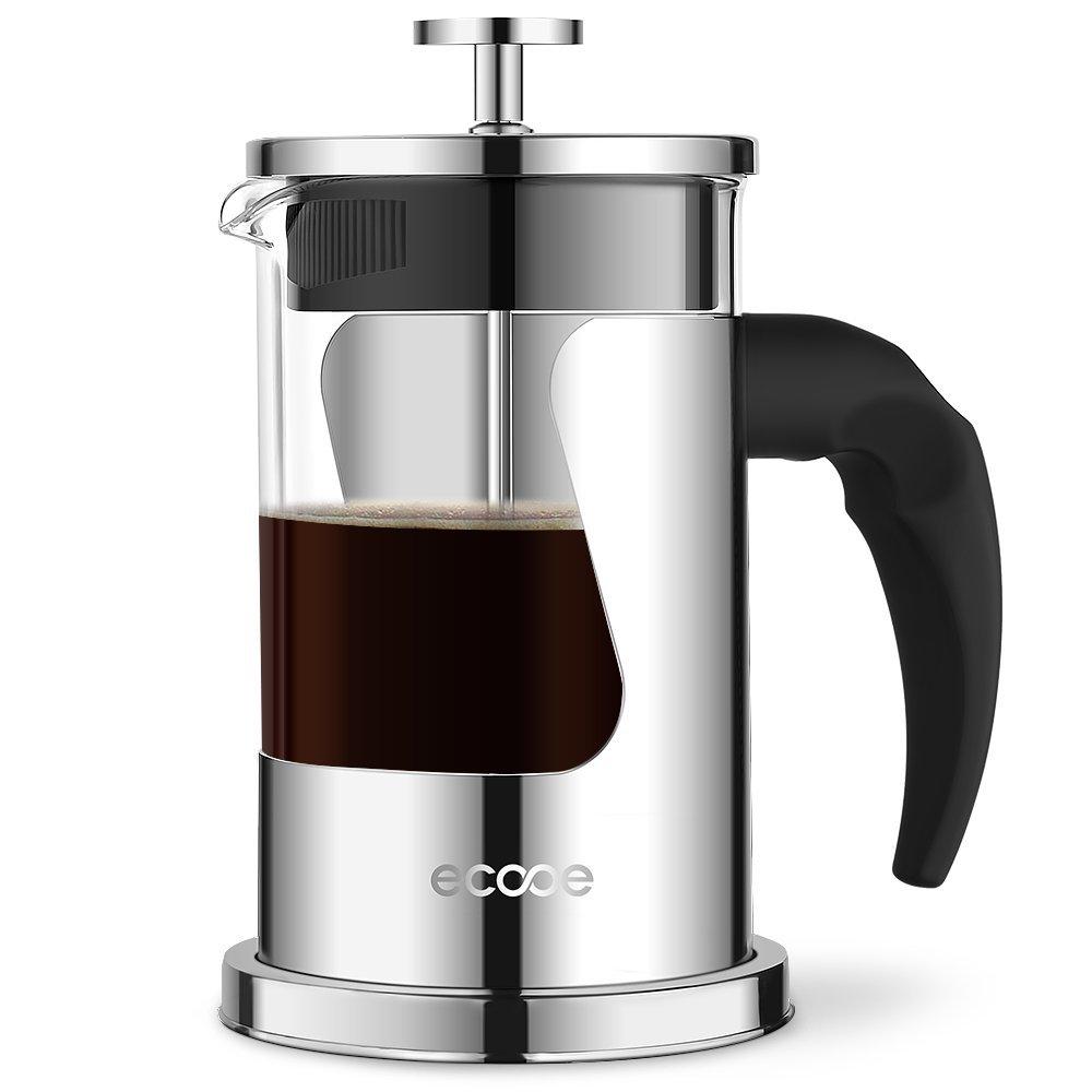 ecooe 600ml glas und edelstahl kaffeebereiter. Black Bedroom Furniture Sets. Home Design Ideas