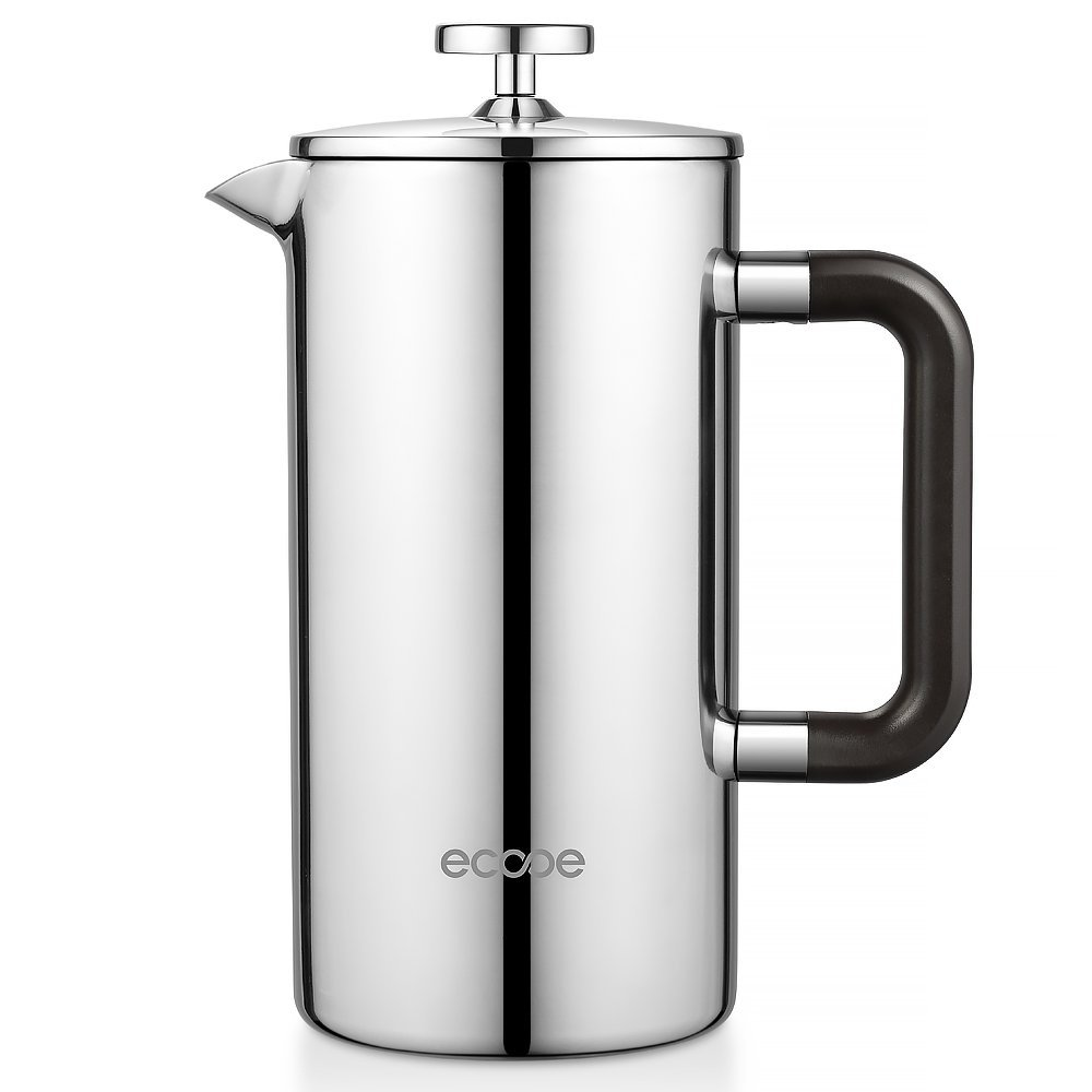 ecooe 34 oz 8 cup stainless steel french press coffee maker. Black Bedroom Furniture Sets. Home Design Ideas